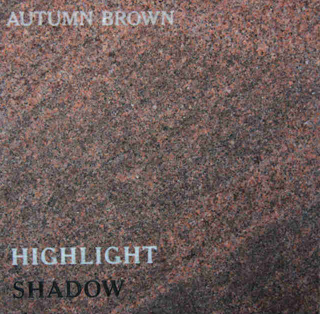 Autumn Brown Headstone Color