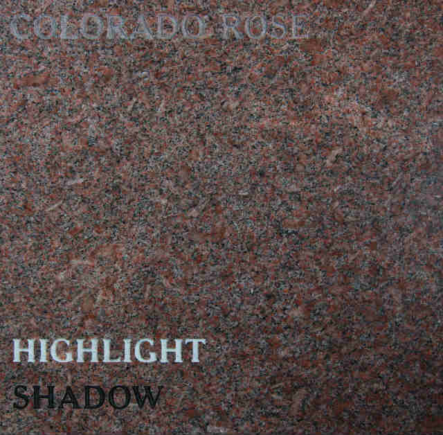 Colorado Rose Headstone Color