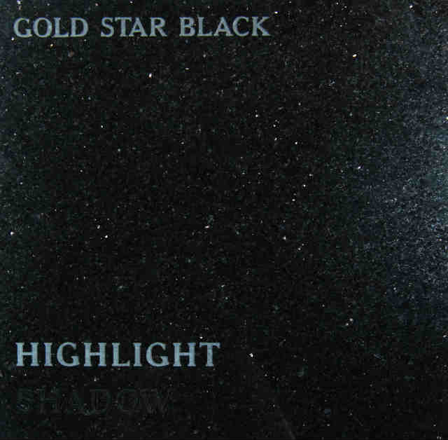 Gold Star Black Headstone Color