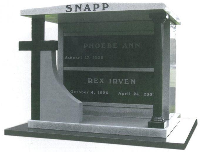 Custom Designed Mausoleum for the Snapp Family