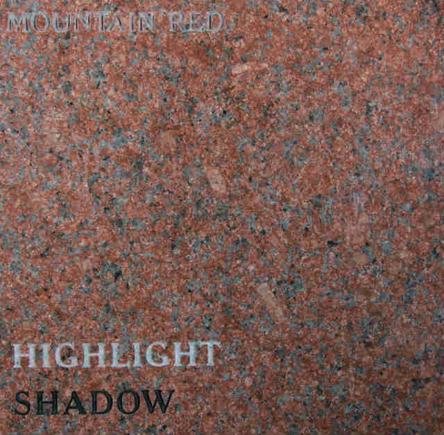 Mountain Red Headstone Color