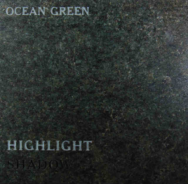 Ocean Green Headstone Color