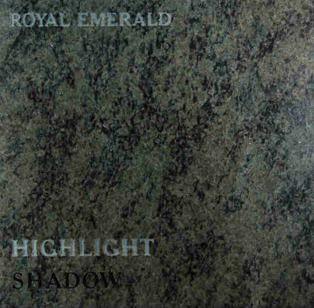 Royal Emerald Headstone Color