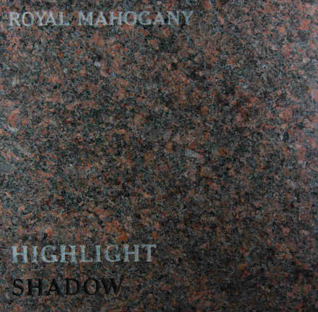 Royal Mahogany Headstone Color