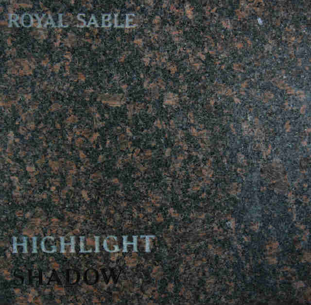 Royal Sable Headstone Color