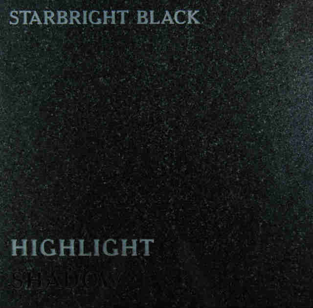Starbright Black Headstone Color