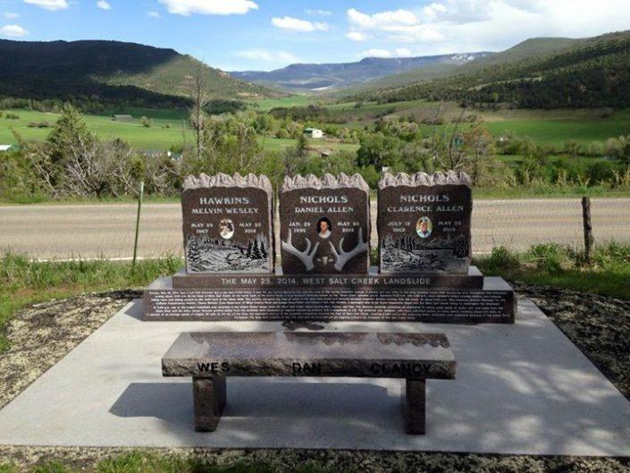 memorial bench in carbondale