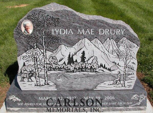 boulder headstone in colorado springs