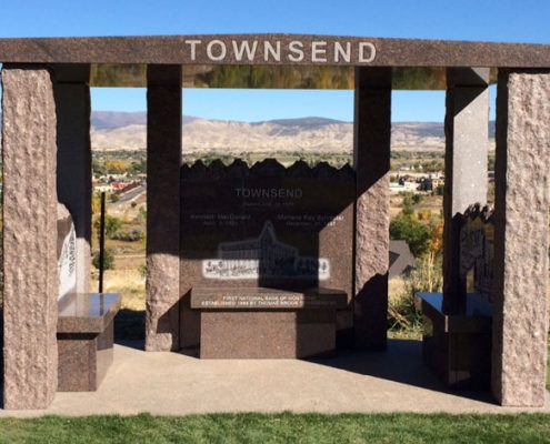 custom designed memorial benches for the Townsend family