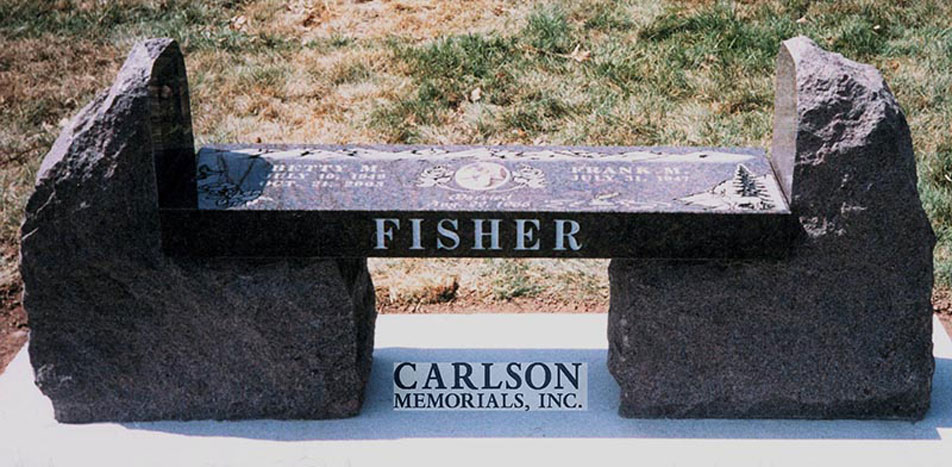 B020: American Bouquet Custom Designed Stone Bench for the Fisher Family