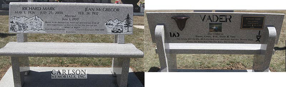 B036: Champagne Custom Designed Stone Bench for the Vader Family