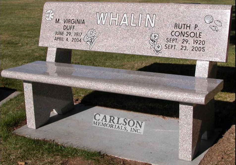 B071: Champagne custom designed stone bench for the Whalin family
