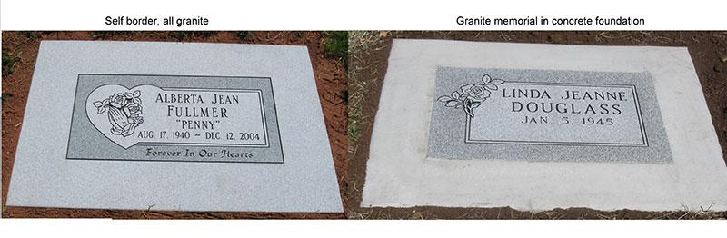 GM000: Granite and Concrete flat marker foundations