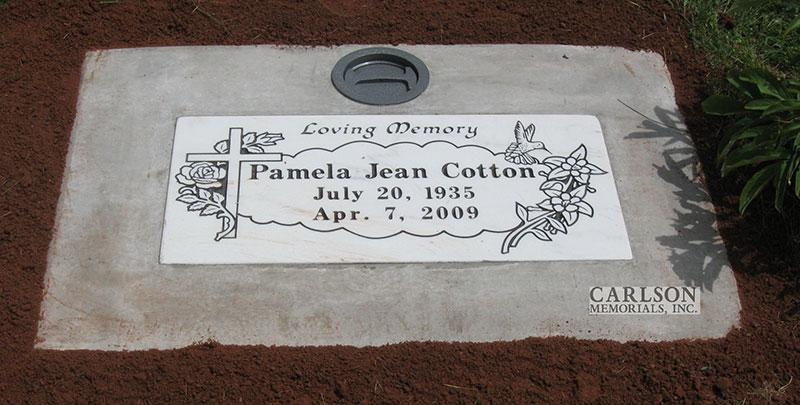 GM103: Colorado Yule Marble Custom Designed Flat Marker for the Cotton family