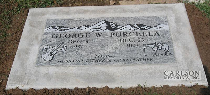 GM155: Silver Cloud custom designed flat marker for the Purcell family