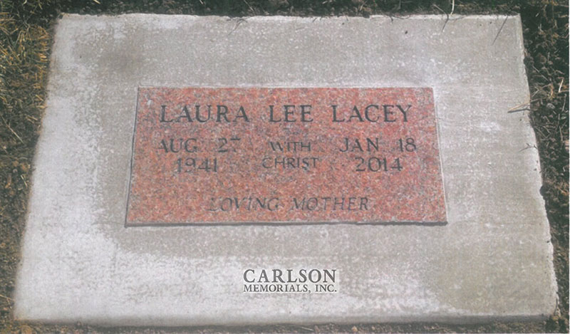 GM233: Morning Rose custom designed flat marker for the Lacey family