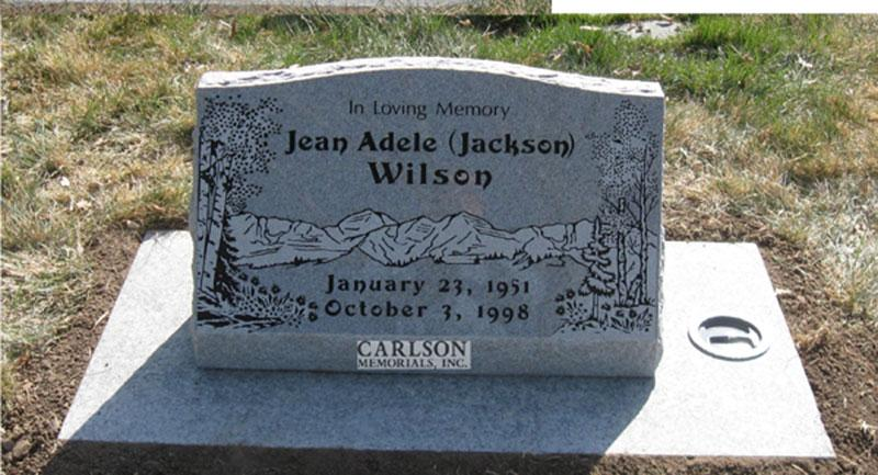 S002: Bluestone Custom Designed Slant Headstone for the Wilson Family