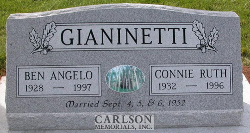 S041: Bluestone Custom Designed Slant Headstone for the Gianinetti Family