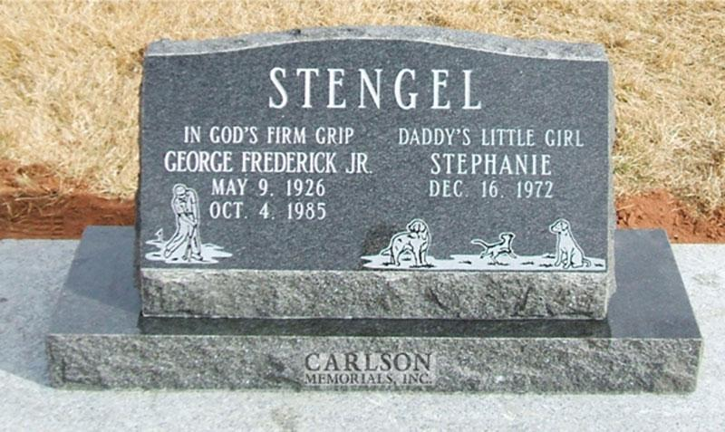S044: Flash Black Custom Designed Slant Headstone for the Stengel Family