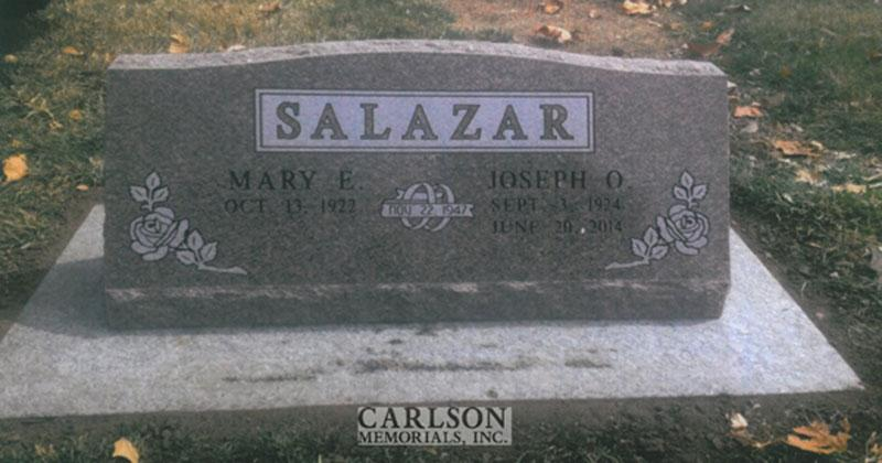 S209: Canyon Rose Custom Designed Slant Headstones for the Salazar Family