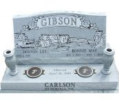 Custom designed cremation memorials for the Gibson family