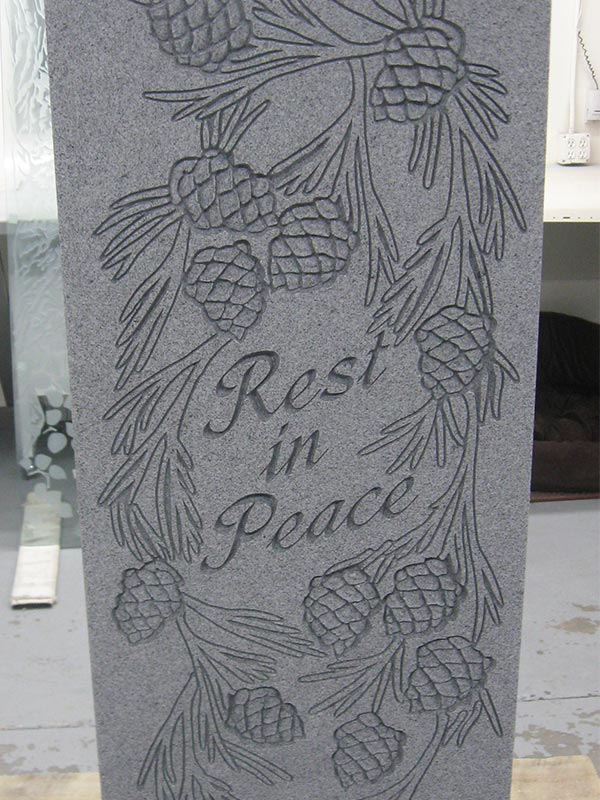 custom engraved headstone