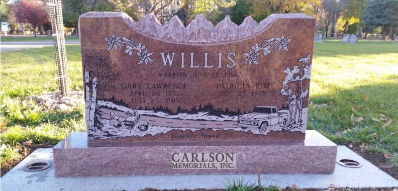TD079: Colorado Rose Red Custom Designed Companion Tablet for the Willis Family