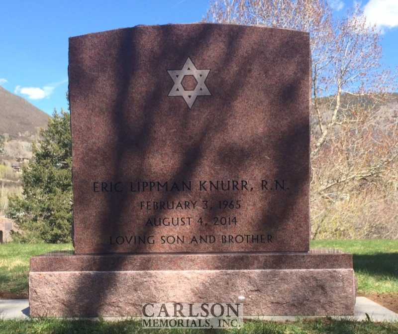 TS039: Colorado Rose Red Custom Designed Headstone for the Knurr famiily