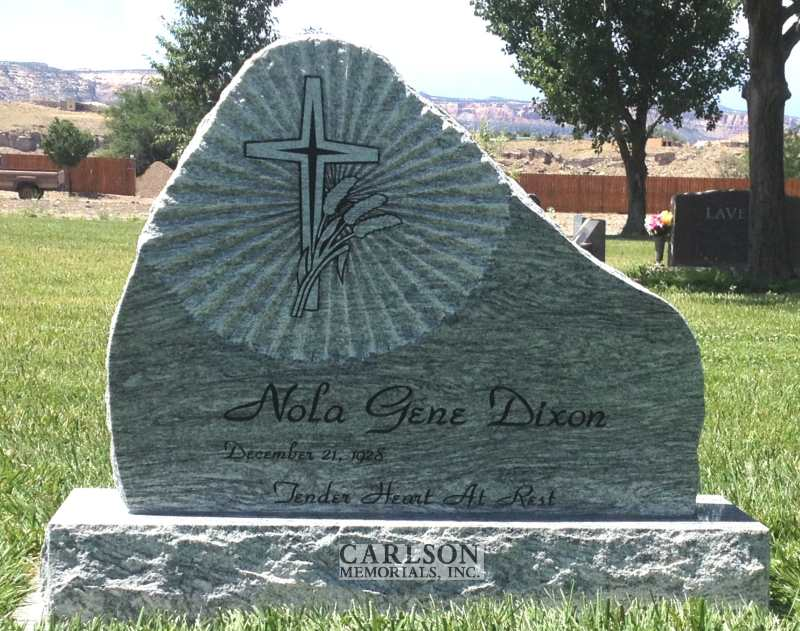 TS050: Silver Cloud Custom Designed Tablet Headstones for the Dixon Family