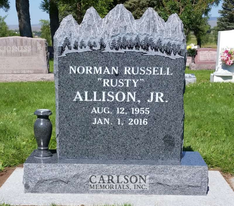 TS071: St Cloud Gray Custom Designed Tablet Headstones for Norman Russell