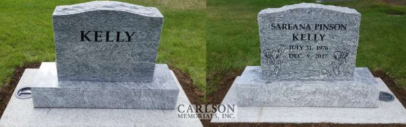 TS079: Silver Cloud Custom Designed Headstone for the Kelly Family