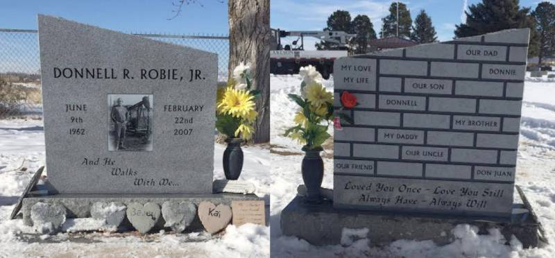 TS096: Bluestone Custom Designed Headstone with Brick Effect for the Robie Family