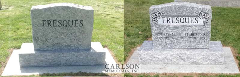 TS104: Silver Cloud Custom Designed Headstone for the Fresques Family