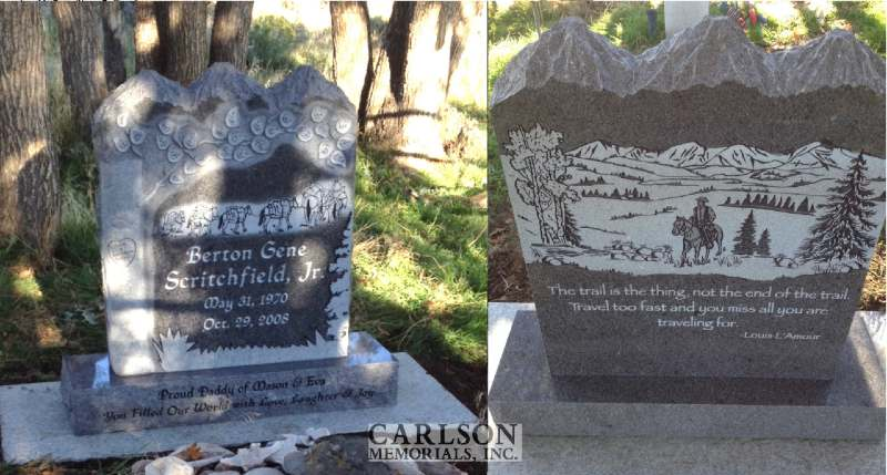 TS111: St Cloud Gray Custom Designed Tablet Headstones for the Scritchfield Family